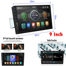 Single 1 DIN Touch Screen Car Stereo Radio 9'' MP5 MP3 Player Head Unit USB/TF