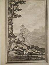 Gravure la généreuse mussulman Late 1700 S Lady & mourant soldat esprit laissant