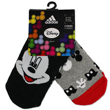 Adidas Mickey Mouse Niños Tope Calcetines ABS juego de 2 Micky Maus Gris Negro