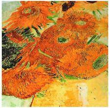 "100% Silk Scarf-90x90SQ*Art ClassicVincent VG""Sunflowers2-Premium Lush Silk*BR"
