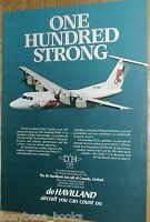 1985 de Havilland Dash 7 advertisement page, 100th Dash-7, Pelita Air