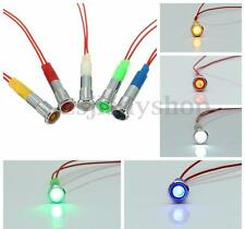 12V 6mm LED Panel Pilot Dash Light Indicator Warning Lamp Car Boat Motorcycle