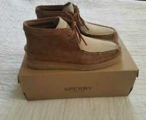 NEW MEN'S SPERRY FOR J CREW CREPE SOLED LEATHER CHUKKA BOOTS SHOES