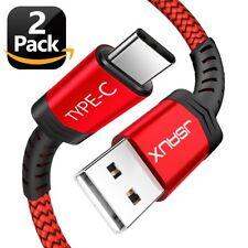 2 USB Cargador Rapido Fuerte Flexible para Samsung y Google Pixel XL [6.6FT]