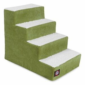 4 Step Portable Pet Stairs By Majestic Pet Products Villa Apple Steps for Cat...