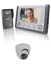 """Videocitofono 7"""" colori + Dome-telecamera visione notturna video citofono (112)"""