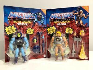 MOTU Origins Battle Armor He-Man & Skeletor Set of 2 BRAND NEW NEW IN HAND