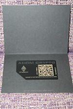 Axiom Metal Ethereum Card - Unloaded Ethereum Safe&Secure Cold Storage Wallet245