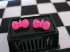 Monster High Doll DOT DEAD GORGEOUS Draculaura Clothes-PINK BOW EARRINGS JEWERY