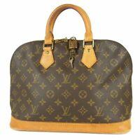 Auth LOUIS VUITTON M51130 Monogram Alma Late Type Hand Bag 15104bkac