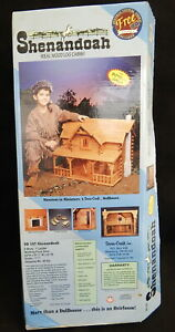 New Shenandoah Miniature Wood Log Cabin Doll House 1/1 Dura-Craft Kit 23x31x21