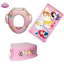 COMBO Disney Princess Soft POTTY Toilet Training Seat + BATH MAT + Step STOOL