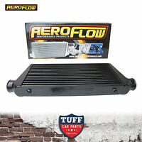 "Aeroflow 600x300x76 Alloy Intercooler Black with 3"" Inlet Outlet AF90-1000BLK"