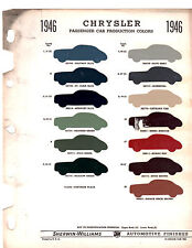 1946 1947 1948 CHRYSLER IMPERIAL NEW YORKER WINDSOR SARATOGA PAINT CHIPS 46 SW 2