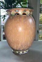 """Roseville Ferella Brown Vase 508-8"""" - MINT"""