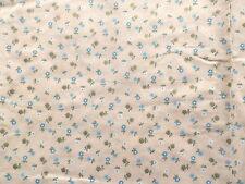 Vintage 1950's 60's Light Cotton Muslin Dress Making Fabric Tiny Flower Print