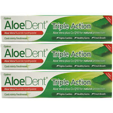 Optima Aloe Dent Triple Action Toothpaste 100ml With Fluoride (3 PACK)