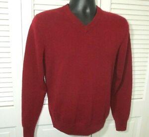DANIEL BISHOP 2-Ply Cashmere Sweater~Men's S~Maroon~EUC!