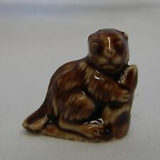 Vintage Wade Real English Miniature Red Rose Tea Beaver Figurine Collectible