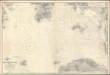 1929 Admiralty Nautical Chart or Map of Hong Kong: Victoria and Kowloon