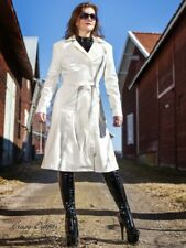 Lackmantel Mantel Weiß Trenchcoat Knielang Vinyl Maßanfertigung