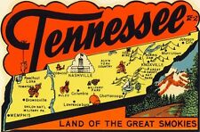 Vintage Travel Decal Replica Window Cling - Tennessee