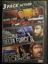 3 Pack Action: Delta Force 1 & 2 / Code of Silence DVD Chuck Norris SEALED OOP