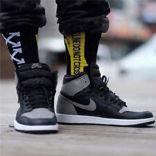 Mens Off White Short Socks Black White Skate Skateboarding