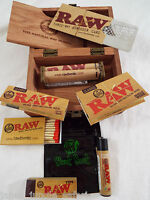 RAW Brand Set 9 Piece Set Box Paper Rolling Machine Tips Lighter Bag Shredder 5