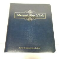 VTG 80s America's First Ladies Commemorative Panels Book Stamps Stamp Collection