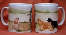 AMERICAN COCKER SPANIEL DOG MUG OFF TO THE DOG SHOW PRINT SANDRA COEN ART