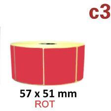 57x51 mm ThermoEtiketten ROT 1.370 Etiketten  Zebra ,Citizen,Intermec, TEC..