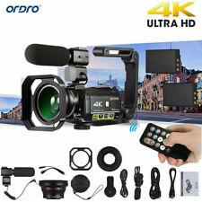 ORDRO AC3 4K WiFi Digital Video Camera Camcorder 24MP 30X Zoom DV Recorder M8U6