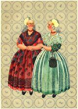 NETHERLANDS. Friesland Gala dress 1932 old vintage print picture