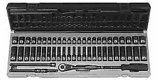 "Grey Pneumatic 89253CRD 1/4"" dr 12 pt 53 pc SAE & Metric Duo Socket Set NEW!"
