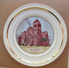 Vtg.1955 75th Anniversary St. Paul Lutheran Church Cleveland OH Collectors Plate