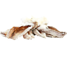 Natural Rabbit Ears With Fur Gluten Free Healthy Dog Treats Low Odour/Fat BARF
