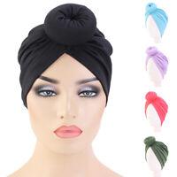 Indian Muslim Women Hijab Knot Twist Chemo Cap Hat Turban Head Scarf Wrap Bonnet