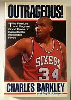 Outrageous! Signed by Charles Barkley Autographed Hardback NBA HOF Auto