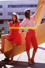 1980s 35mm Slide/Sexy College Women Dressed In Red 80s Fashion /Art SL313