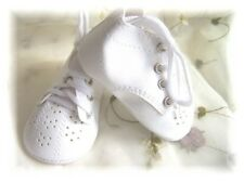 Reborn Doll 70 mm White Toddler Fancy High Top shoes ~ REBORN DOLL SUPPLIES