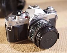 Canon AV-1 SLR film camera with 50mm f1.8 Canon FD Prime lens