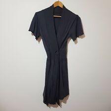 Virgorella OSFA 10 / 12 Grey Wool Blend Knit Dress