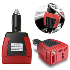 DC 12V to AC 220V 75W Universal Car Charger Cigarette Lighter Power USB Inverter