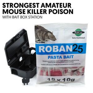 Mouse Poison Pasta Killer Poisen Sachet for Mice and Rat with Bait Station Box