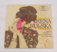 "RENA ROLSKA POLAND TANGO POP 1960'S 7"" EP FEMALE VOCAL POLISH"
