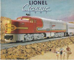 1997 LIONEL TRAINS CLASSIC CATALOG