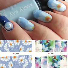 4Patterns/sheet Butterfly Water Transfer Full Wraps Nail Art Decals Stickers