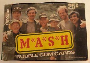 1982 DONRUSS MASH EMPTY DISPLAY BOX