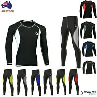 Mens Compression Tight Pants Base Layer Skin Fit Shirt Yoga Gym Armour Tights